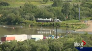 Pipeline 'anomalies' detected night before leak into North Saskatchewan River