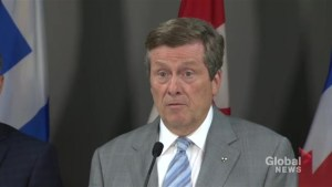 Toronto mayor says Project Claudia charges were necessary to maintain peace