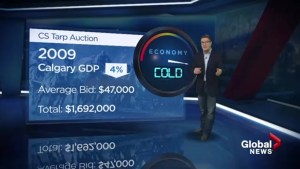 Stampede tarp auction economic barometer
