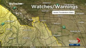 Hail and thunderstorms possible in southern Alberta Thursday: Environment Canada