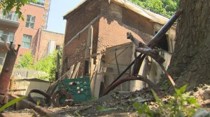 Griffintown Horse Palace being torn down