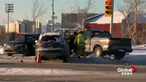 Calgarians deal with slick roads as they return from winter break
