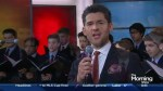 Juno nominee Matt Dusk performs some 'Old School Yule' with the St. Michael's Choir on The Morning Show