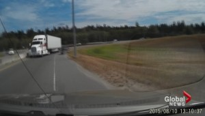 Truck goes wrong way on exit ramp in Delta