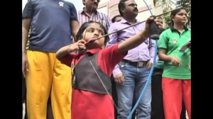 Two-year-old girl sets archery record in India