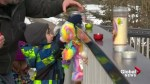 Memorial grows for 6-year-old who fell through ice
