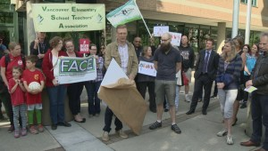 A show of support at Vancouver School Board rally