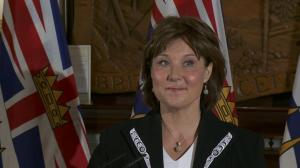 Who was sworn-in to Christy Clark's cabinet?