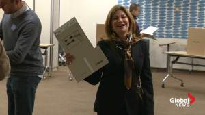 John Tory's wife casts her vote on election day
