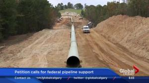 Petition calls for federal pipeline support