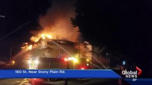 Fire rips through west Edmonton townhome complex for 2nd time
