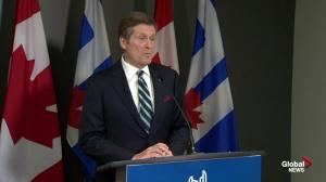 Mayor Tory is satisfied with Ontario's commitment to transit improvements