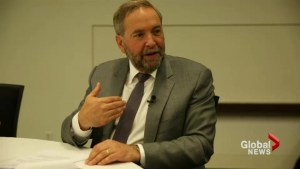 On the campaign trail with Tom Mulcair