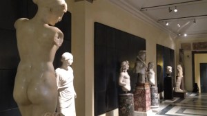 Famous nude statues covered up for Iranian president during Italian museum tour