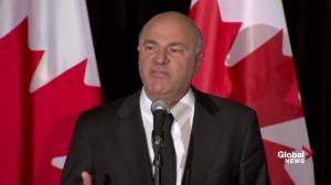 Kevin O'Leary says supporting Bernier 'right thing for the country'