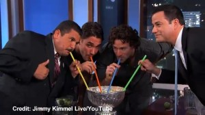 LA Kings turned Stanley cup into giant margarita on Jimmy Kimmel