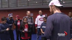 Coronation Elementary students meet Habs