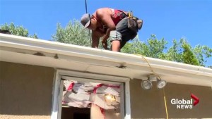Lethbridge family wins new roof
