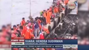 Indonesian ferry catches fire killing at least 23