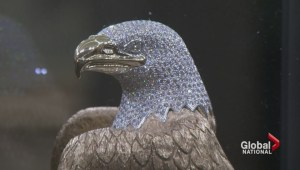 B.C. police investigate theft of golden, jewel-covered eagle statue