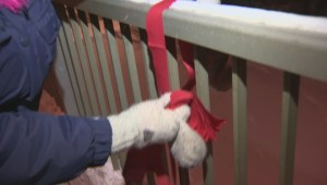 Growing movement puts red ribbons on bridges to remember missing and murdered women