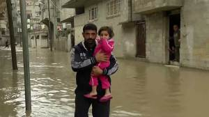Heavy rain causes flooding in Gaza Strip