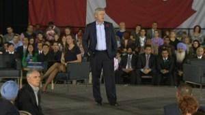 Harper keeping promise of financial help to families