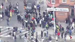 Rioters descend on corner liquor store in Baltimore