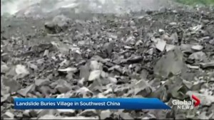 Landslide buries village in southwest China