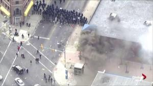Rioters set fire to CVS Pharmacy that had earlier been looted