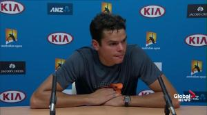 Milos Raonic says outburst at start of 5th set was just frustration