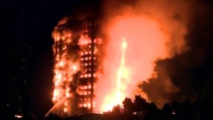 London firefighters continue to battle massive apartment fire