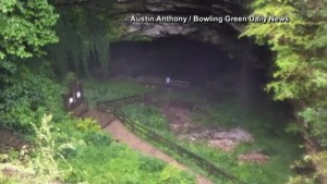 19 tourists escape neck-deep water as heavy rains flood Kentucky cave