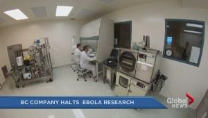 Burnaby based company stops work on Ebola drug
