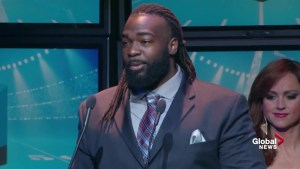 Shaw CFL Awards: SirVincent Rogers wins Most Outstanding Offensive Lineman Award