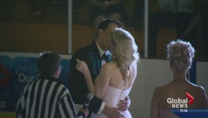 Edmonton couple weds at centre ice