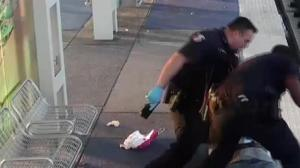 Houston Police release video showing officer beating homeless man with his nightstick