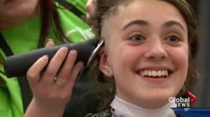 Classmate inspires peers in head shave