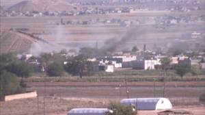 Raw Video: Smoke continues to rise over Kobani, report of at least eight ISIS members dead