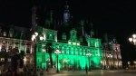 Paris city headquarters lights up in green in Trump protest