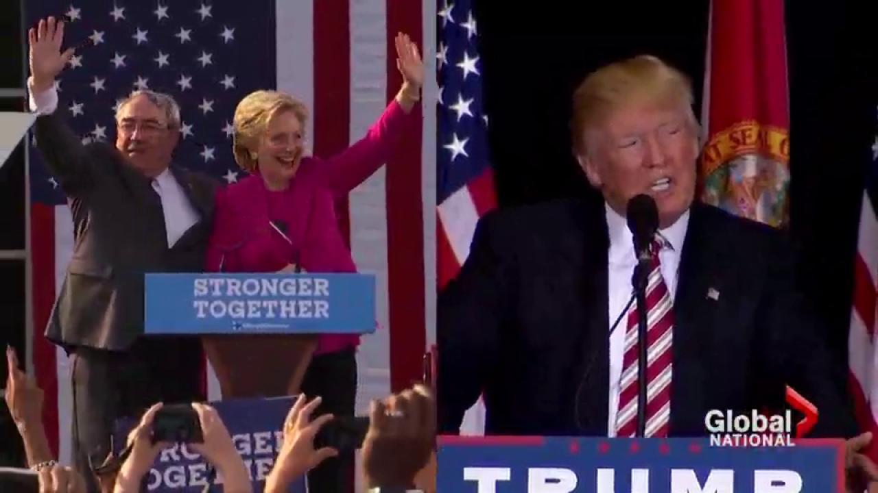 Battleground states polls tighten as Trump expands campaign