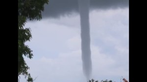 Massive waterspout forms off Nassau, Bahamas