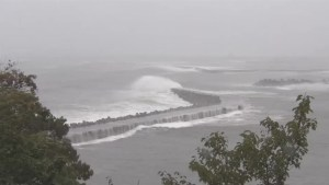 Raw video: Typhoon Mindulle makes landfall in Japan