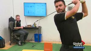 How the University of Alberta golf team trains with technology