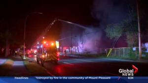Early morning fire in Mount Pleasant