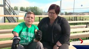 Young Alberta hockey fan who's overcome challenges to play wins chance to go to NHL draft
