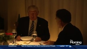 What happened during Trump's second dinner with Mitt Romney