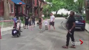 Subban plays a game of pick-up in Westmount