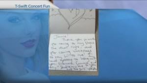 B.C. family gets handwritten note from Taylor Swift