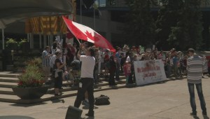 A weekend of rallies keeps police busy in Calgary